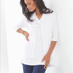 NWT! SOMA Soft Jersey Open Wrap Bright White